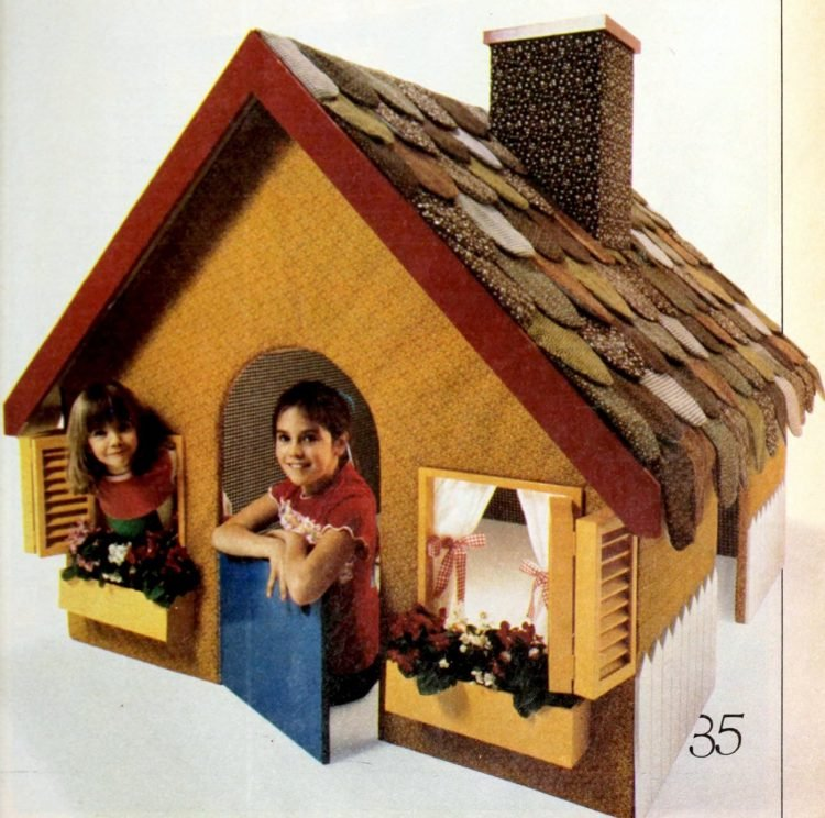 Quilted playhouse idea from 1979