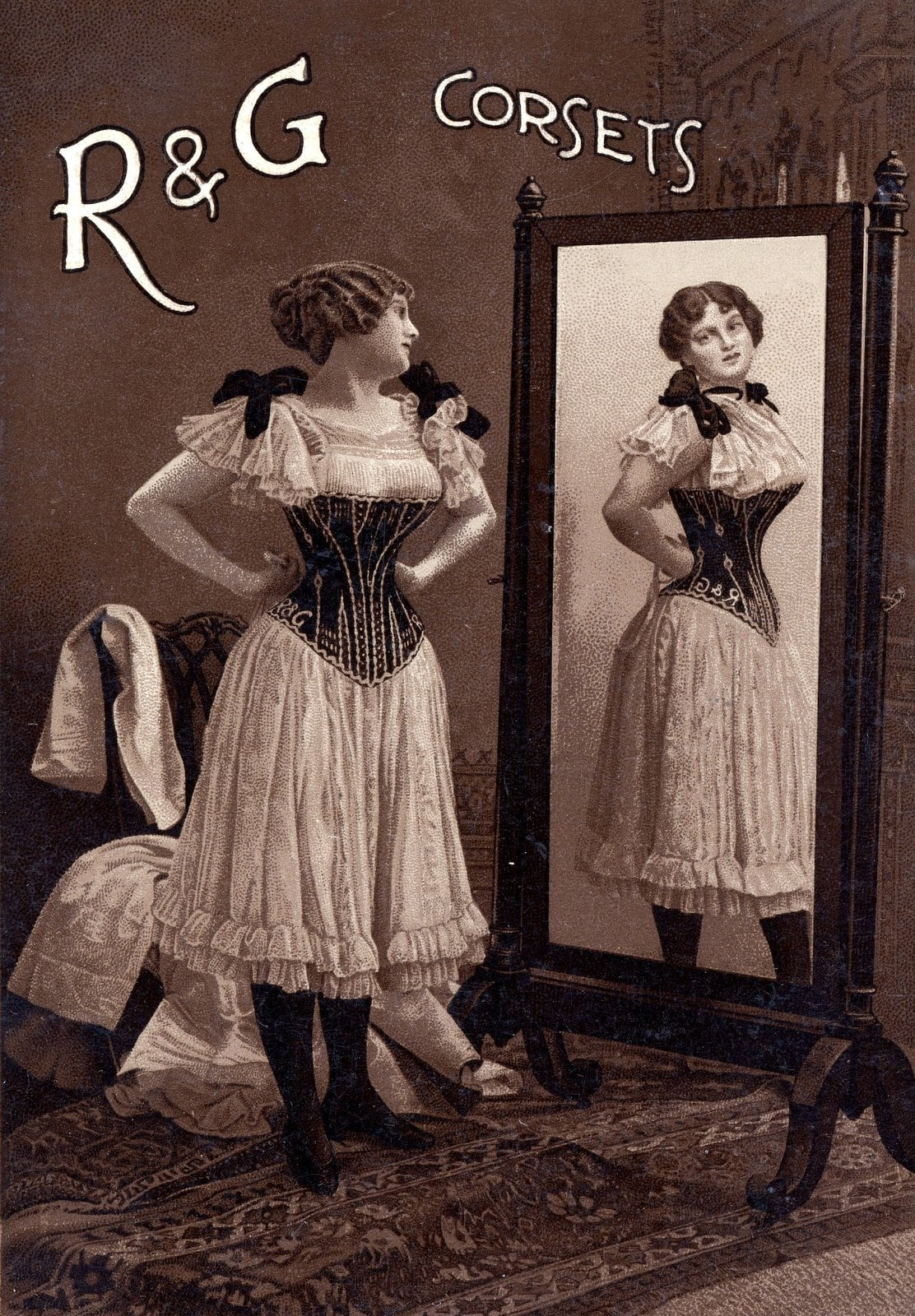 R and G vintage corsets from 1800s
