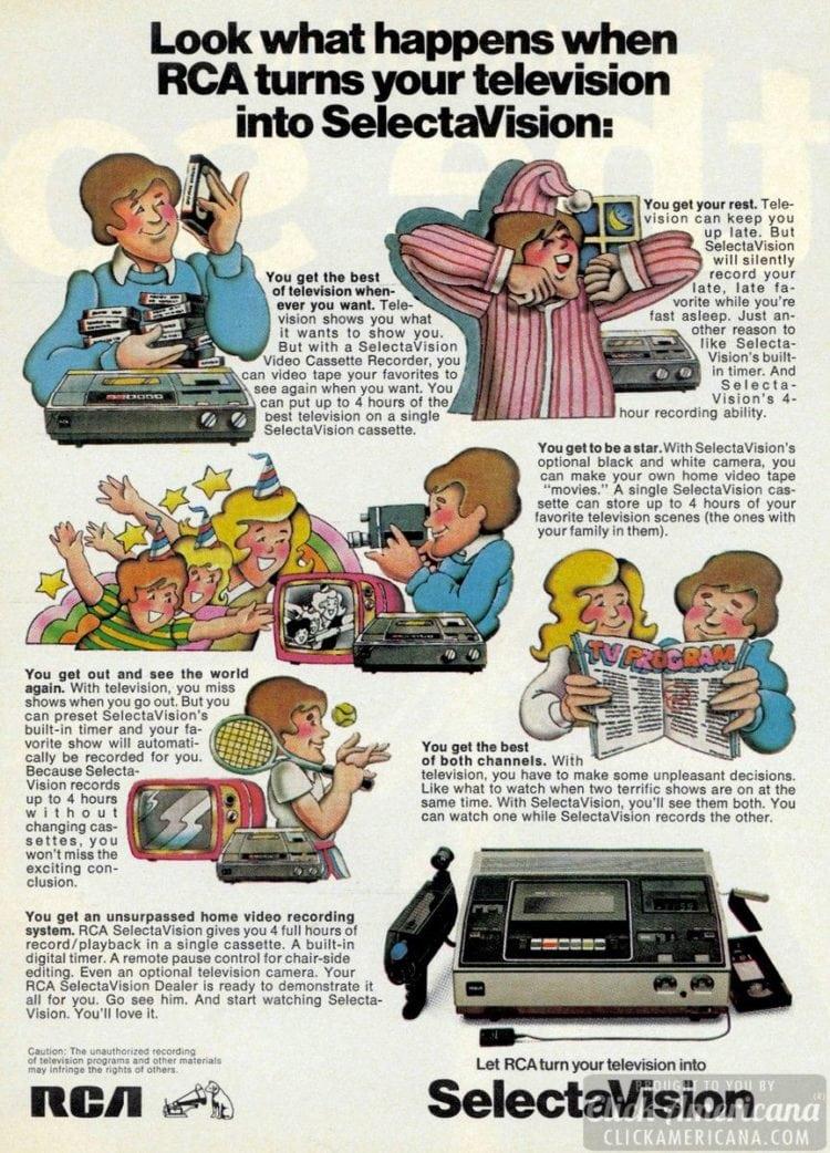 RCA SelectaVision 1978