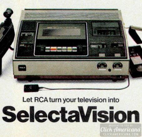 RCA SelectaVision 1978-ad