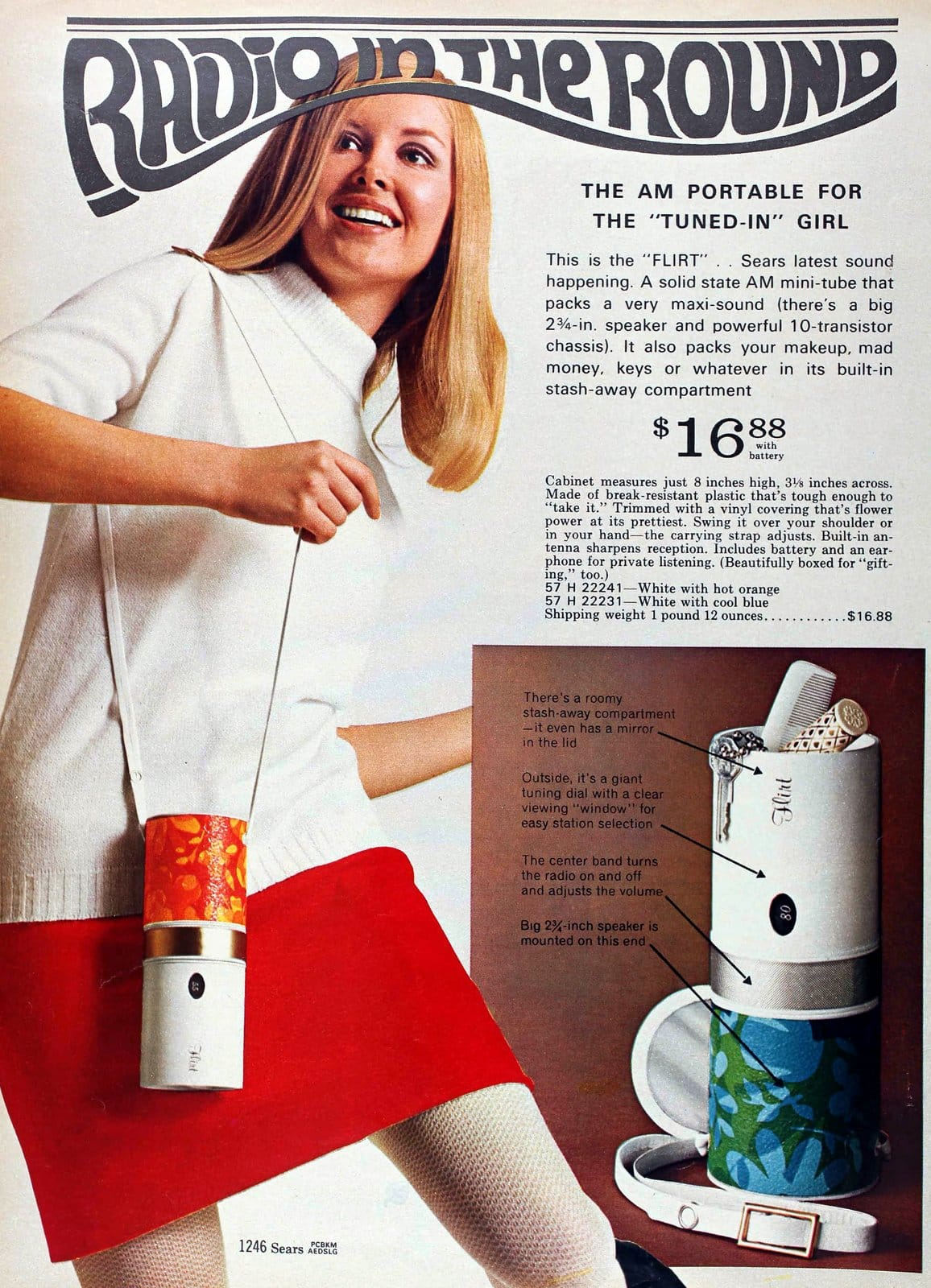 Radio in the Round - Portable radio for tuned-in kids (1968)