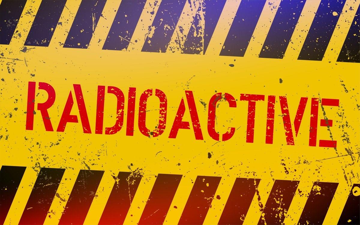 Radioactive sign - Danger warning