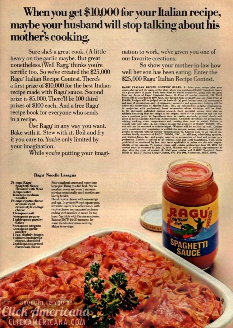 Ragu Noodle Lasagna