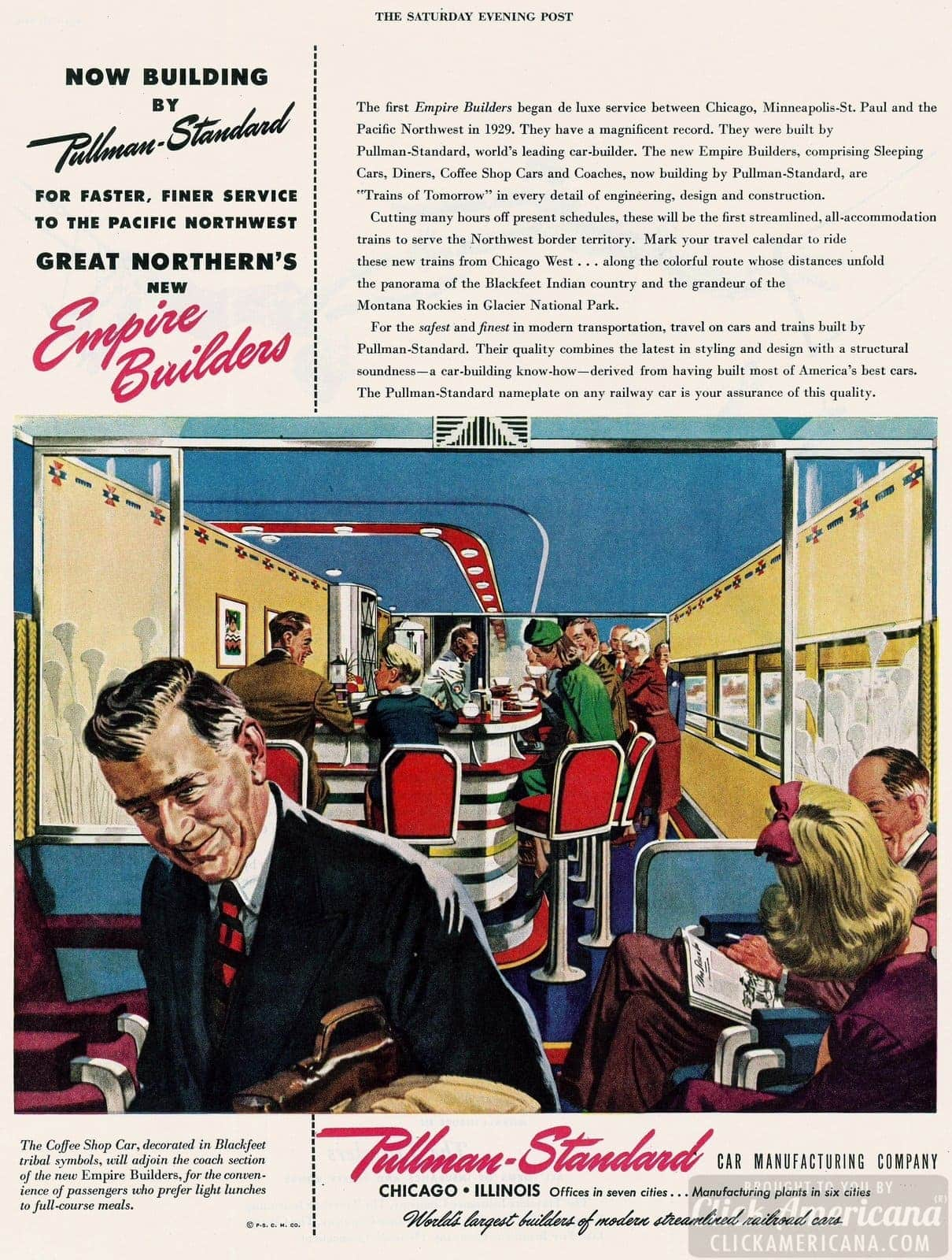 Railroad - 1946 Pullman-Standard Great Northern Empire Builders - Diner