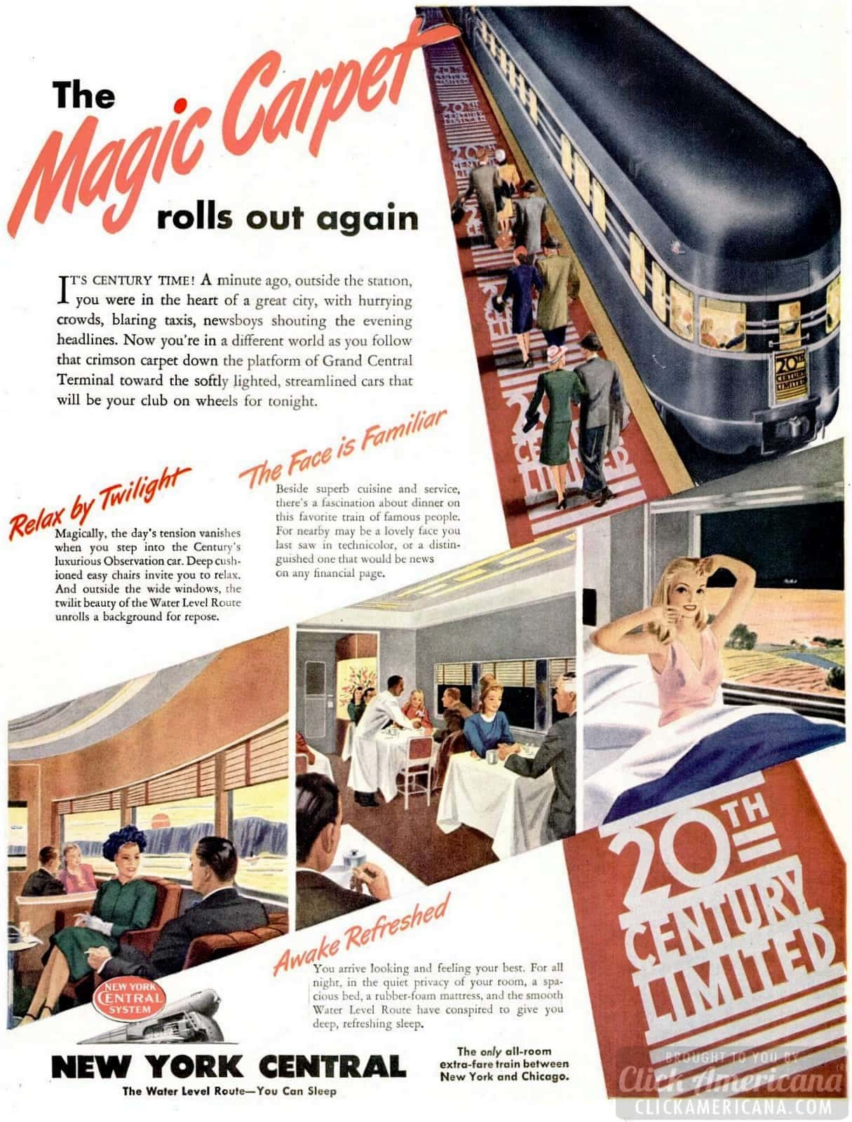 Railroad of 1946 - New York Central trains