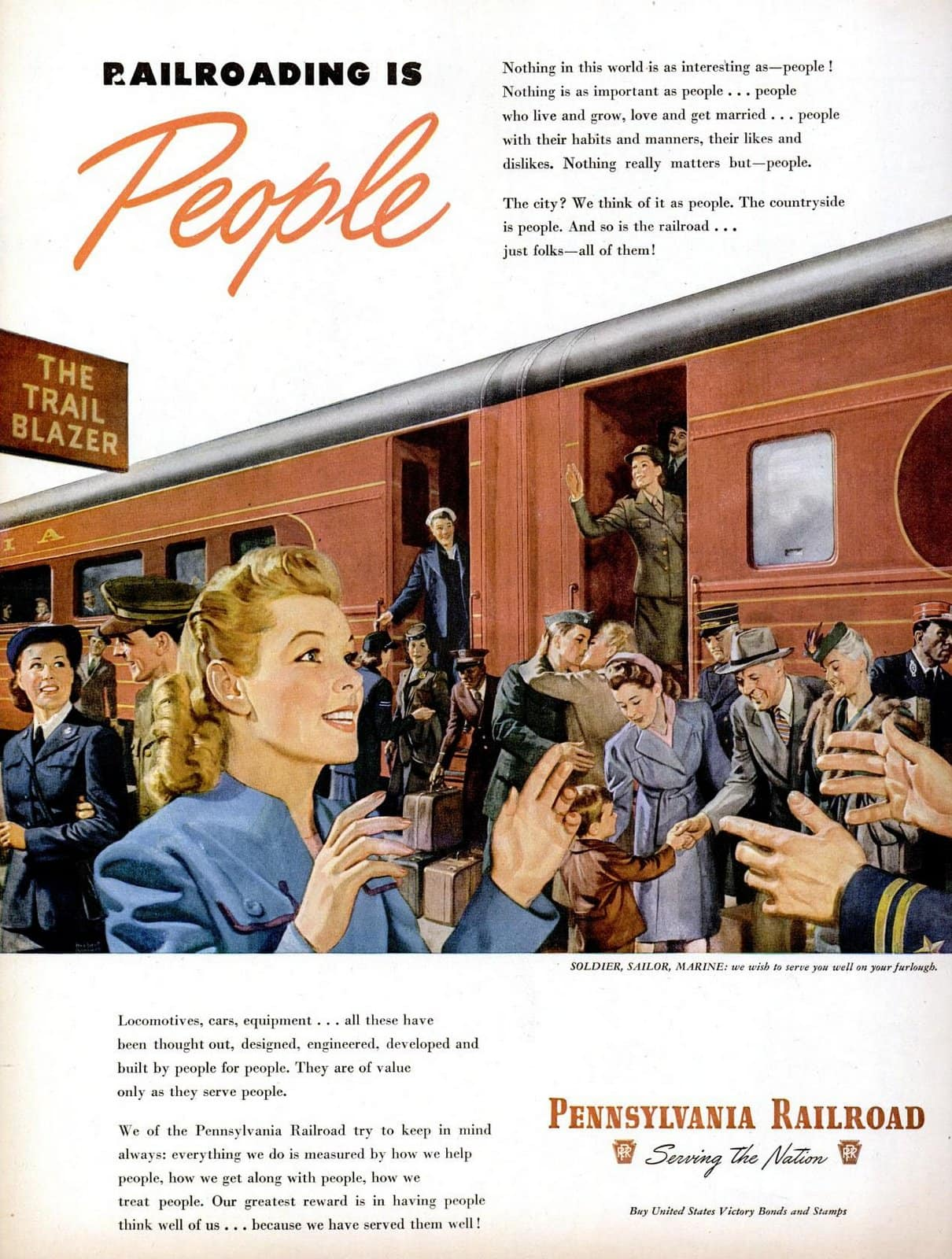 Railroading is people - Nov 19, 1945 Train WWII