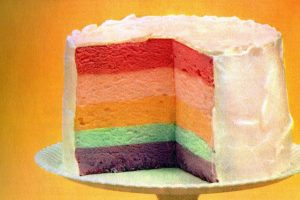 Rainbow cake recipe - Jello