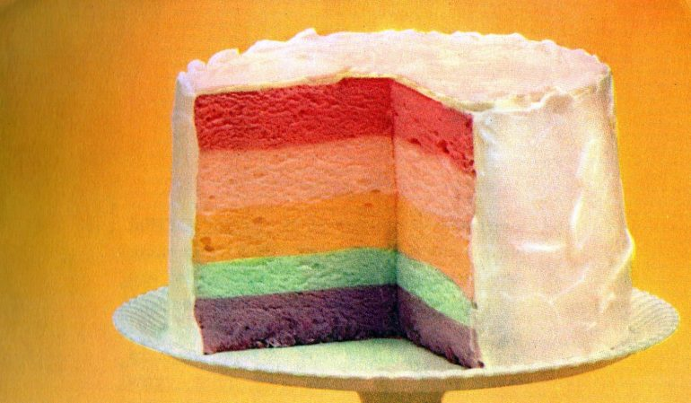 Rainbow cake recipe - Jello