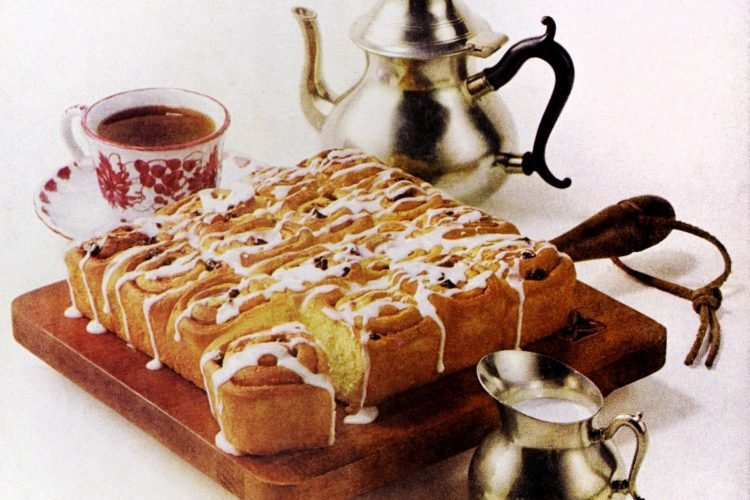 Raisin-cinnamon rolls - Vintage recipe