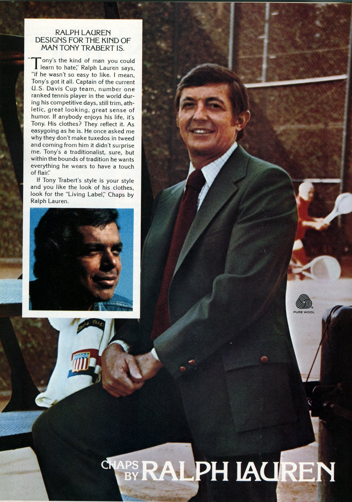Ralph Lauren - Tony Trabert - Designer suits for men from 1976