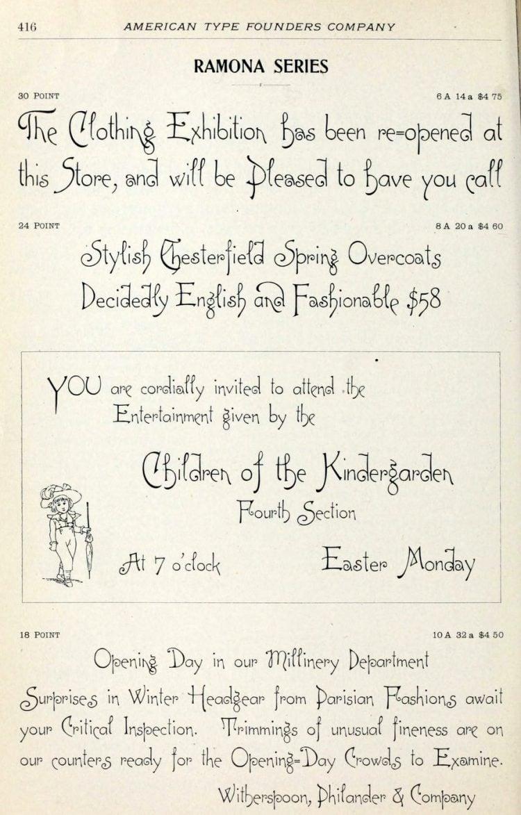 Ramona series typeface - Vintage font styles