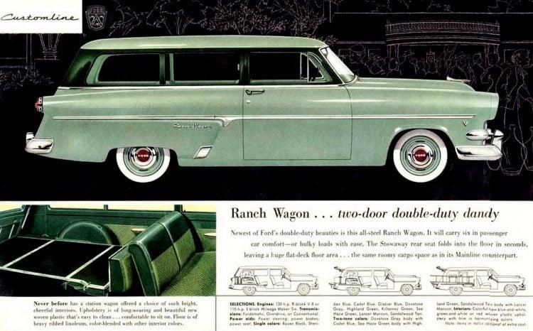 Ranch Wagon... two-door double-duty dandy 1954
