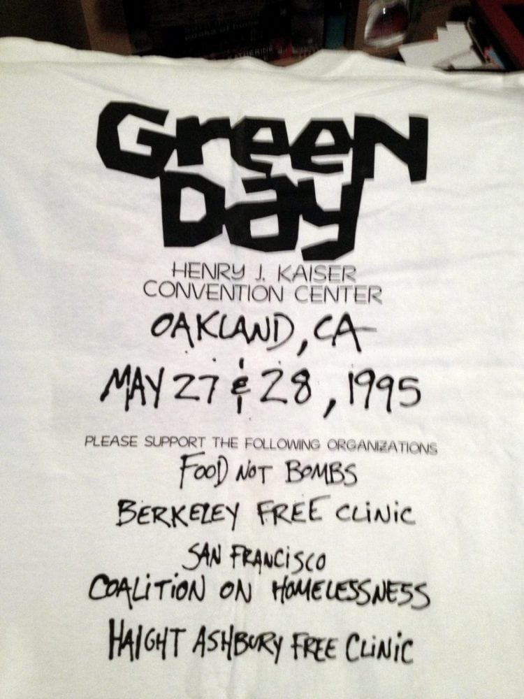 Rare Green Day Practice Space concert t-shirt