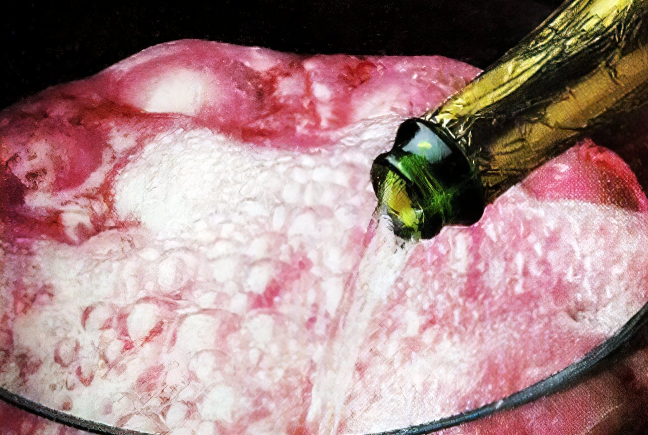 Raspberry champagne punch vintage recipe (1989)