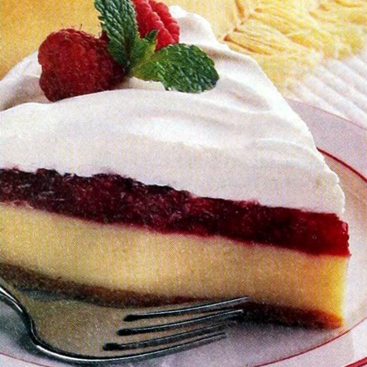 Raspberry-topped lemon pie recipe