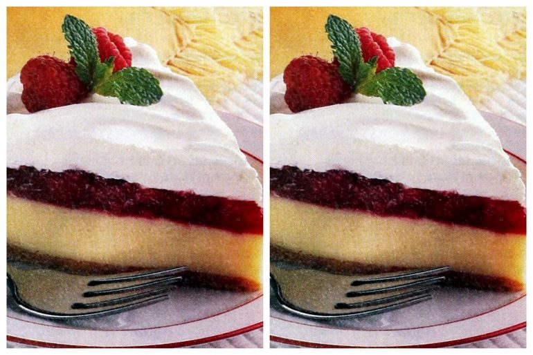 Raspberry-topped lemon pie retro recipe