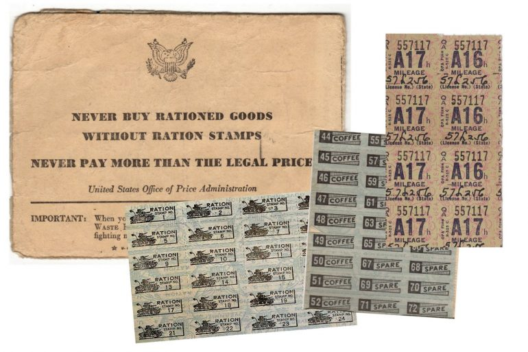 Ration stamps from WW2 See War Ration Book 4, plus coffee stamps, sugar coupons & more from the '40s