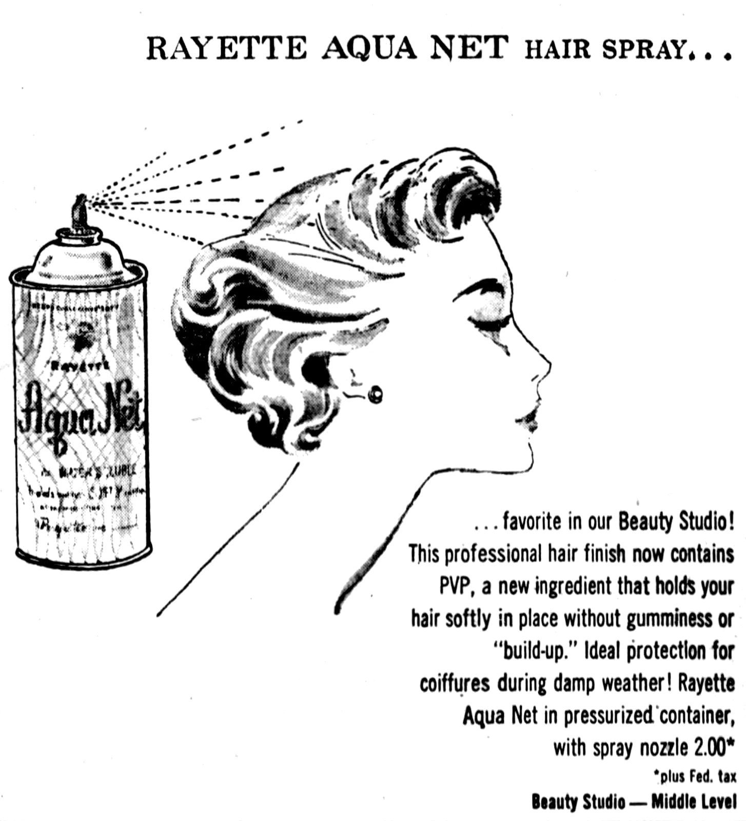 Rayette Aqua Net hair spray (1956)