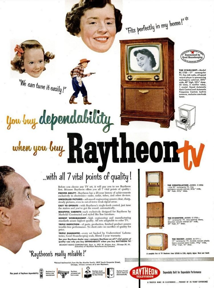 Raytheon TV from 1951