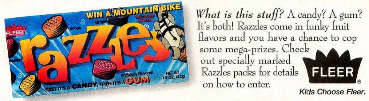 Razzles candy from 1994