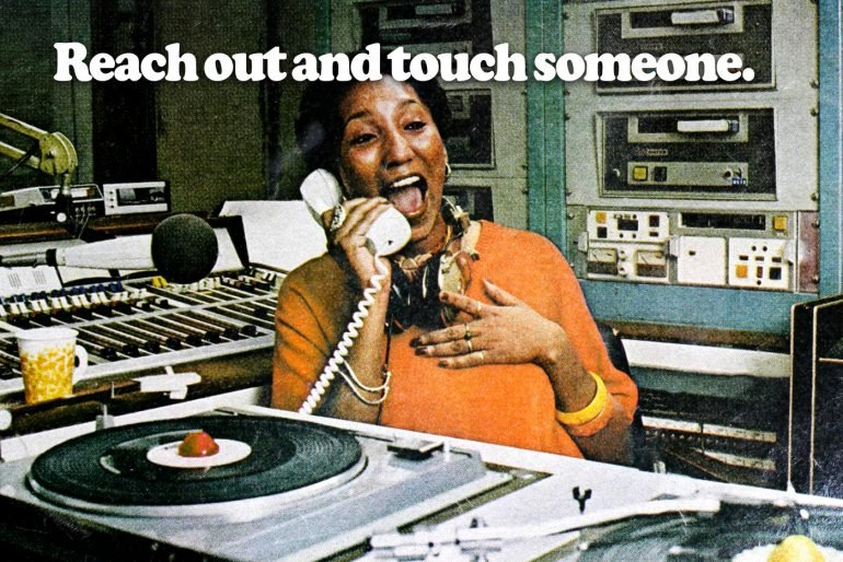 Reach out and touch someone - Vintage long distance ATT phone ad