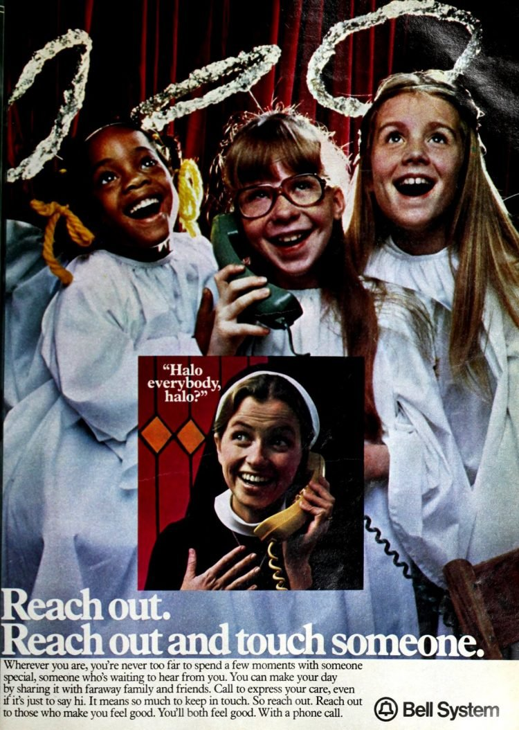 Reach out and touch someone vintage long distance ad (1979)