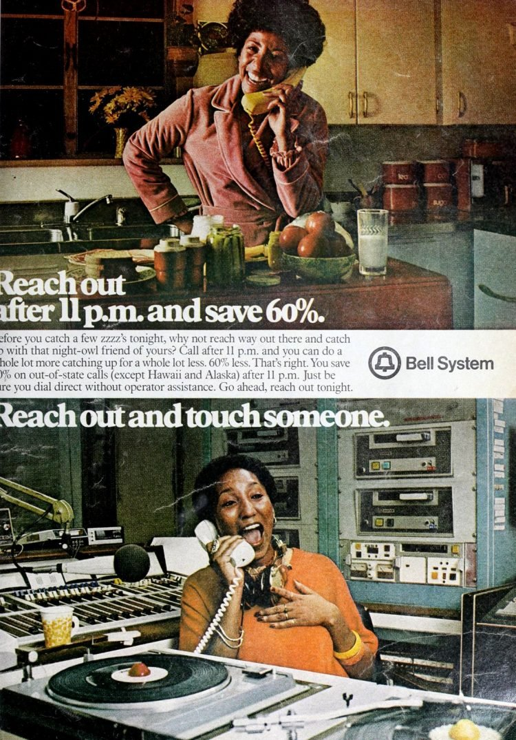 Reach out and touch someone vintage long distance ad (1980)