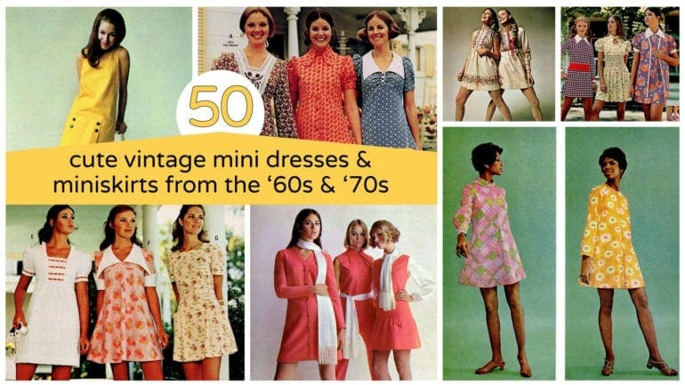 Ready for a retro party See 50 of the cutest vintage mini dresses & miniskirts from the '60s & '70s