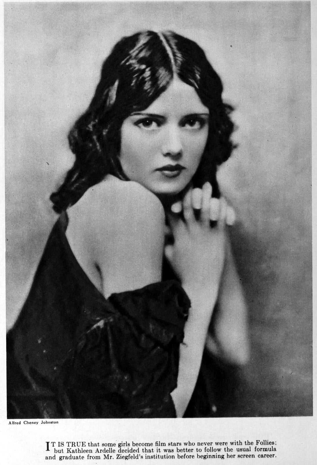 Real vintage 1920s hairstyles for women - actress Kathleen Ardelle