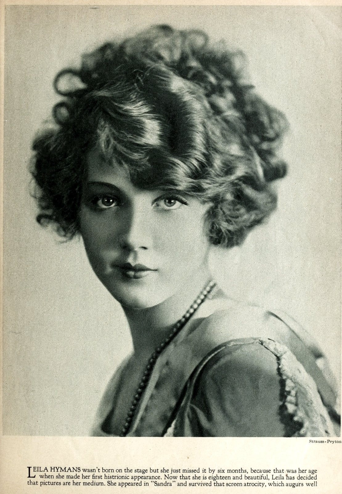 Real vintage 1920s hairstyles for women - actress Leila Hyams