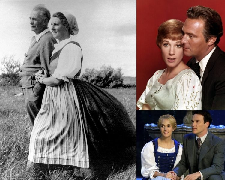 Real von Trapps then Julie Andrews and Christopher Plummer