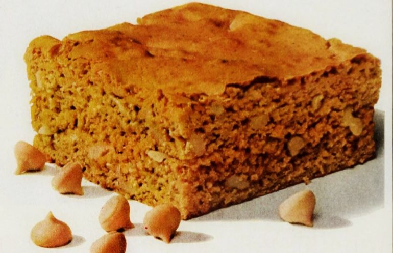 Recipe for Bonnie butterscotch brownies (1964)