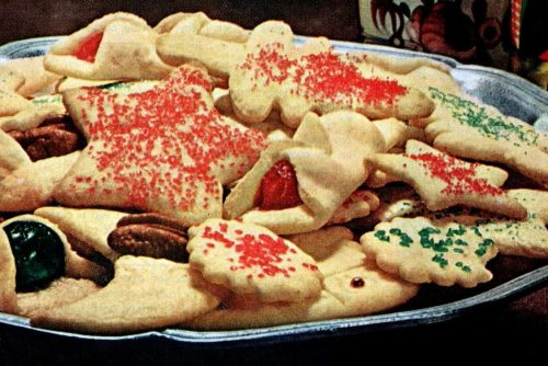 Recipe for easy sugar cookies made with vegetable oil (1964)