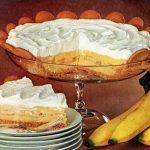 Recipe for old-fashioned magic crystals banana cream pie (1957)