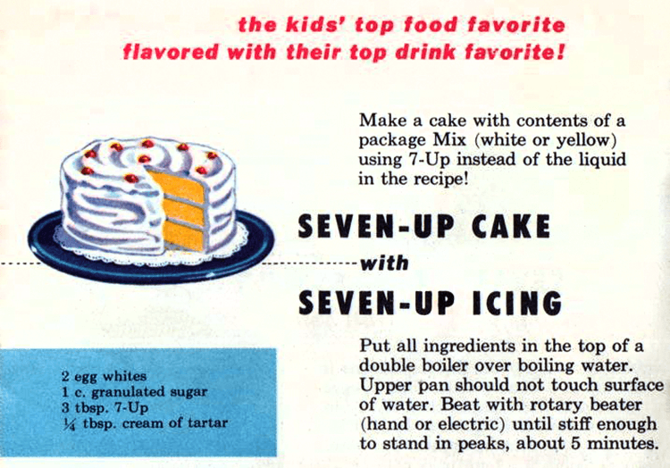 Original Seven-Up cake recipe with Seven-Up icing (1953)