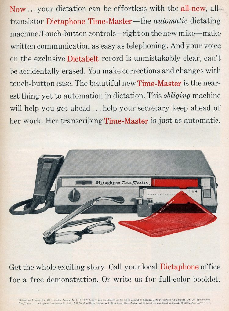 Record with the Dictaphone Time-Master - 1958