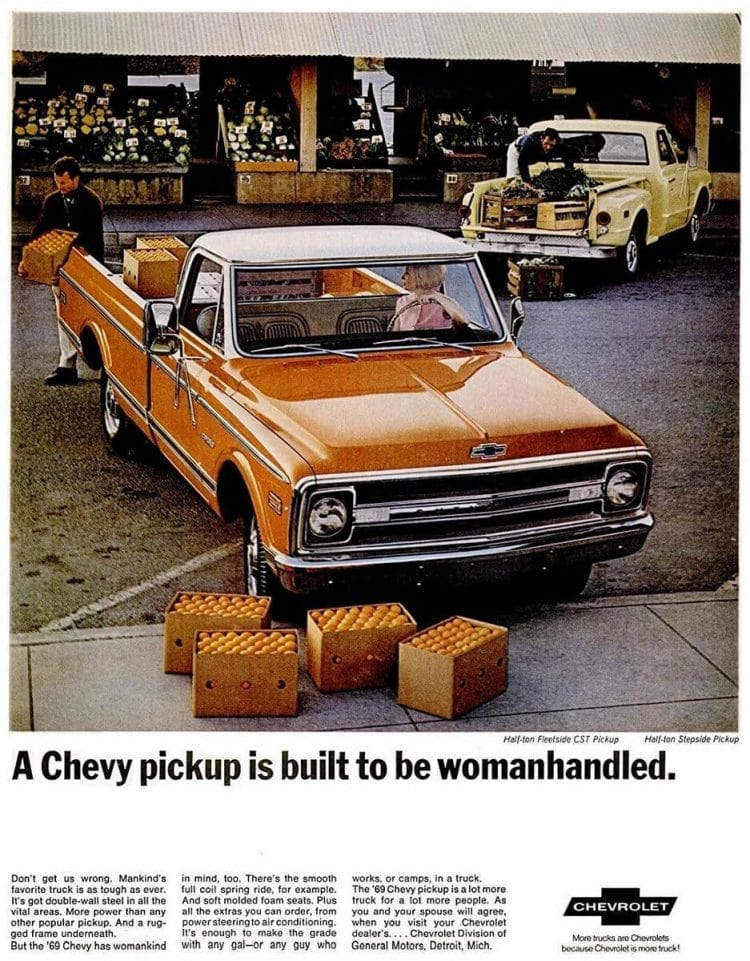 Red 1969 Chevy Pickup - Womanhandled