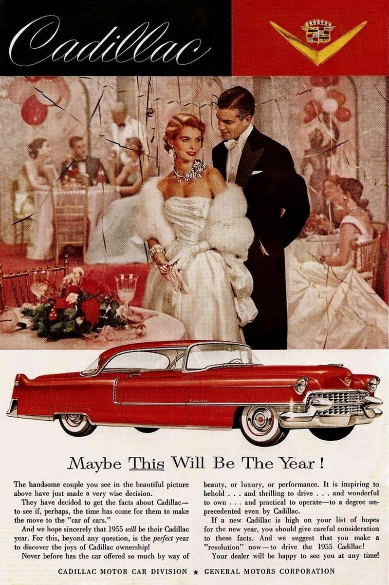 Red Cadillac car from 1955