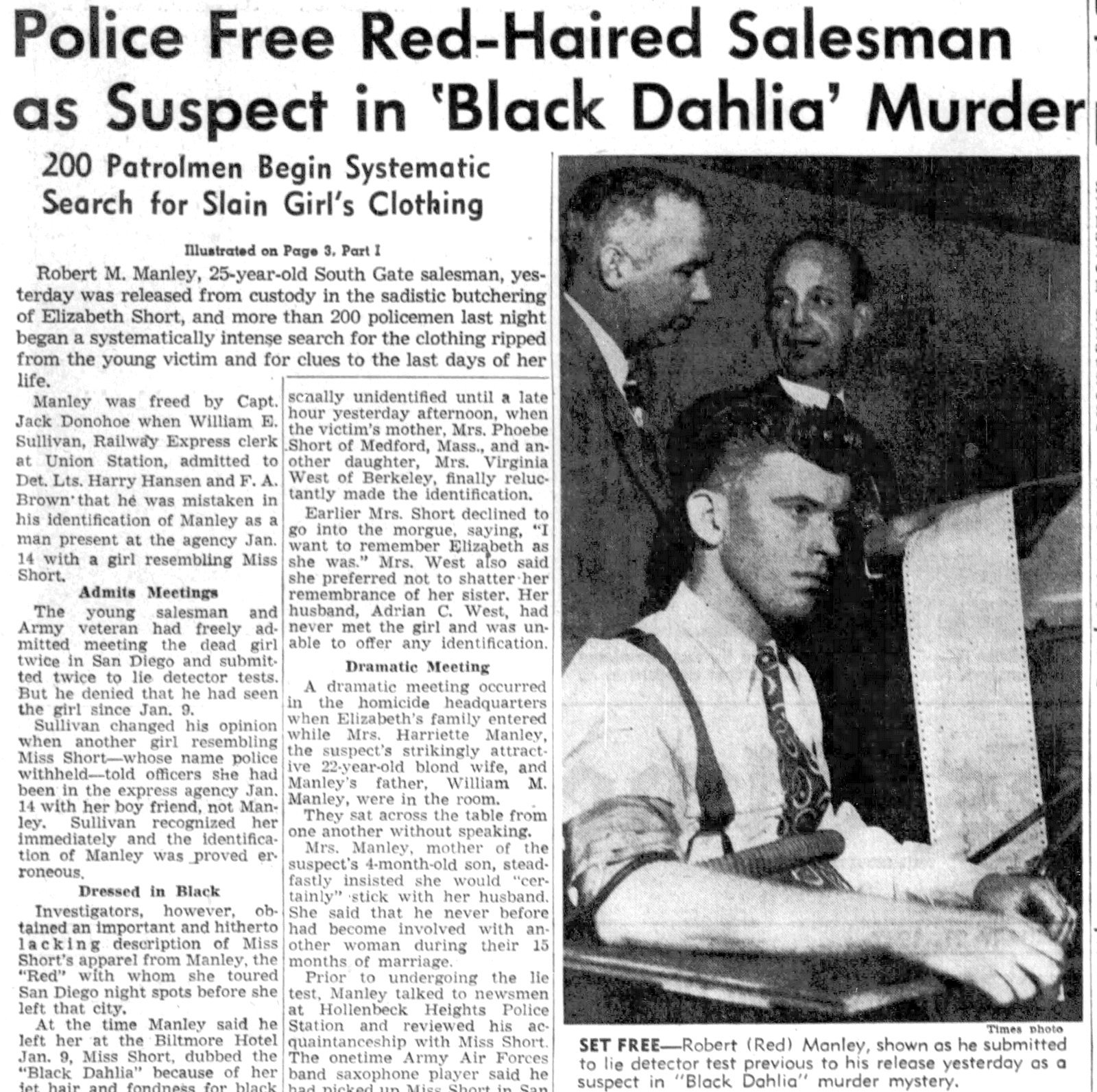 Red Manley - LA Times - January 21 1947