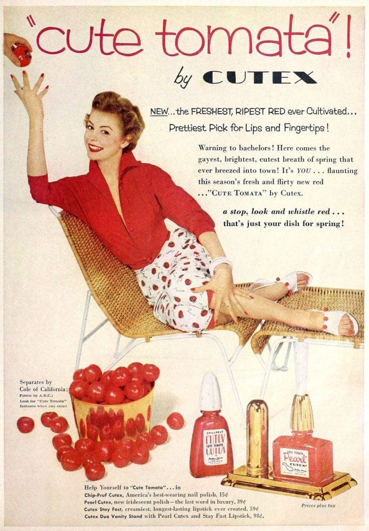 Red nail polish from 1954