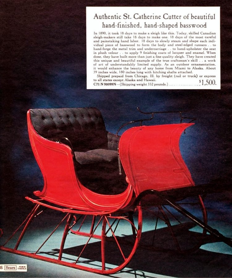 Red sleigh in 1968 Sears Wish Book Christmas catalog