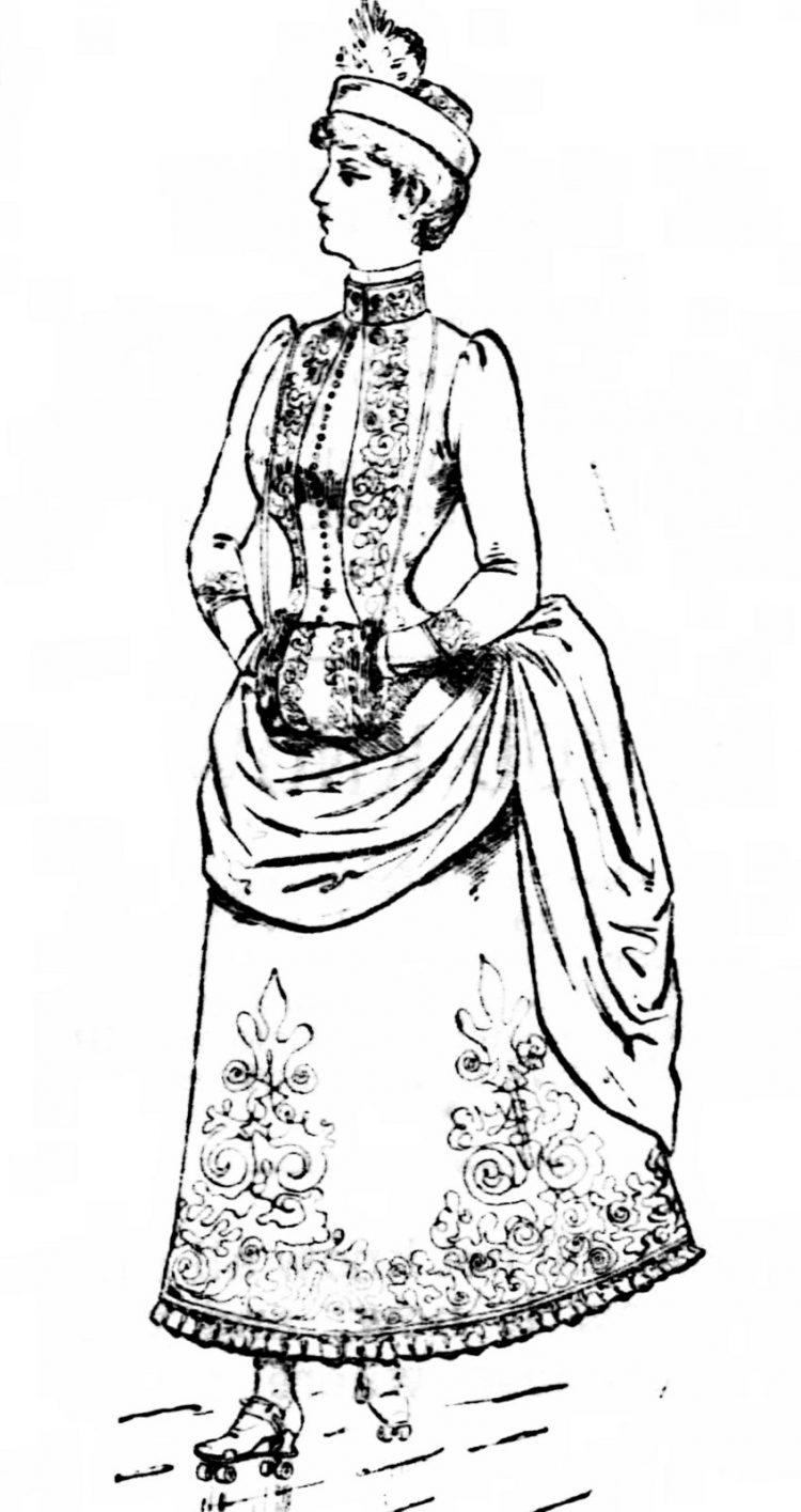 Redfern's roller skating costume (1885) - Dress for women