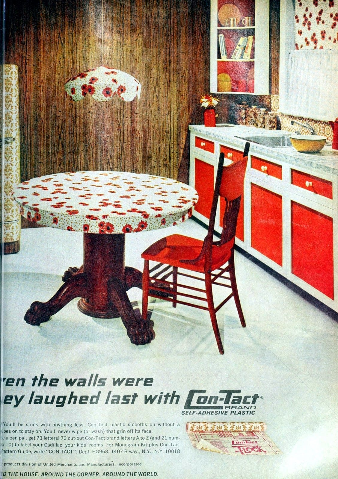 Refresh kitchen with adhesive plastic - Contact Paper 1970s (1)