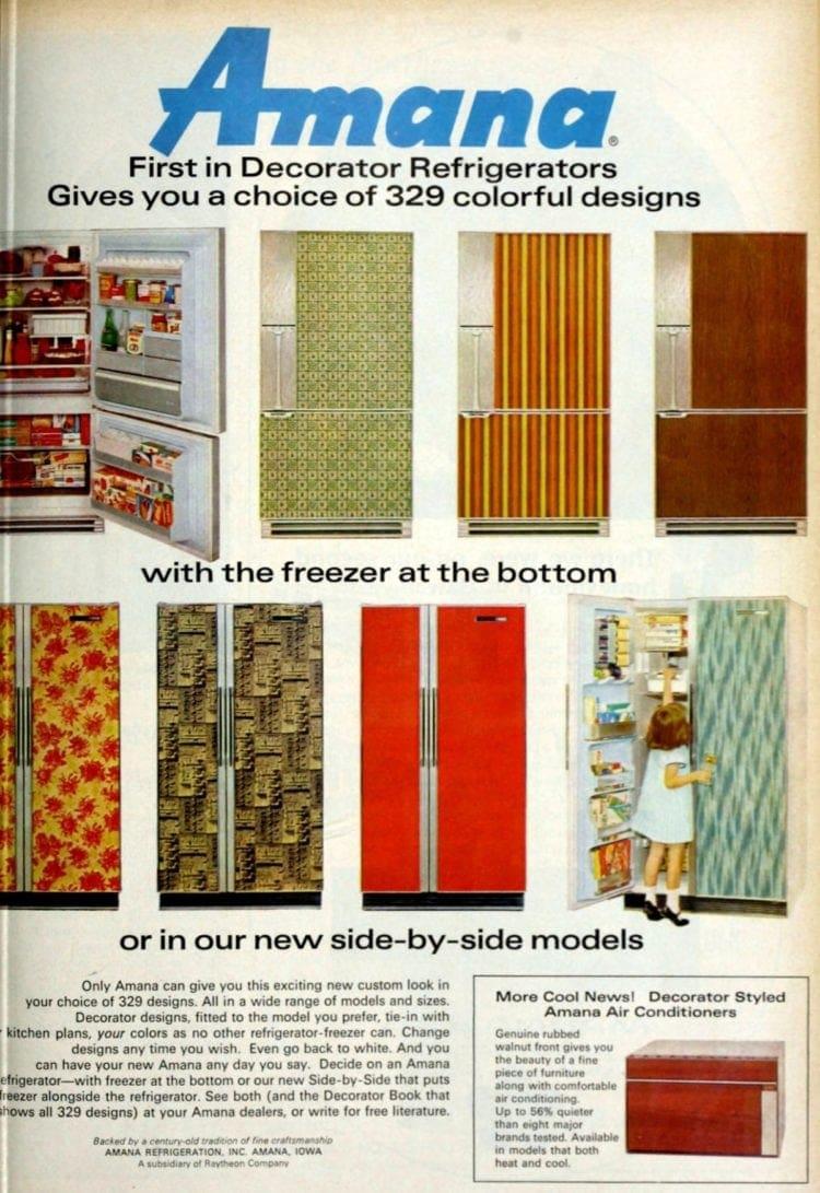 Refrigerator colors retro kitchen