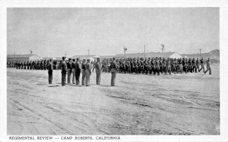 Regimental Review 1942 - Camp Roberts