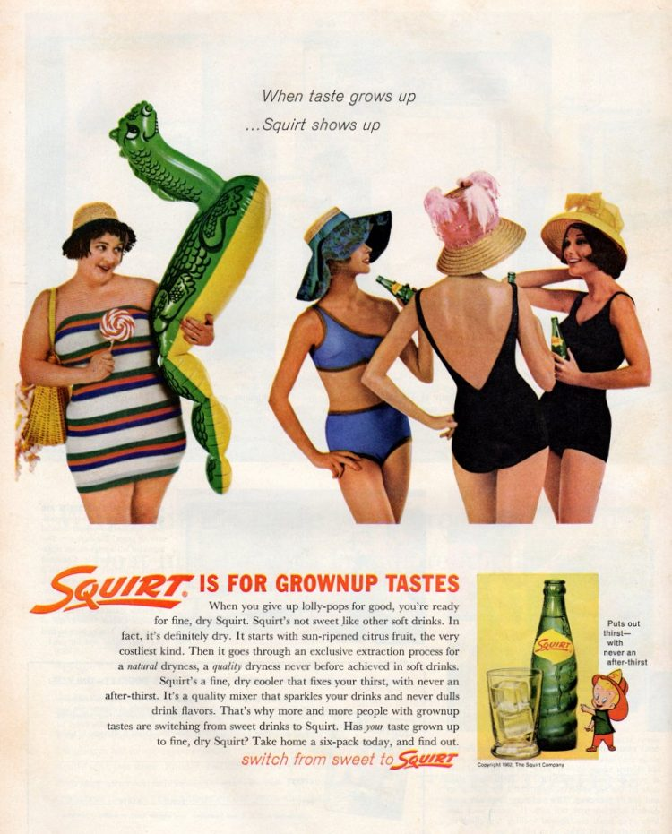 Squirt soda wasn't 'sweet like other soft drinks,' plus five '60s cocktail recipes