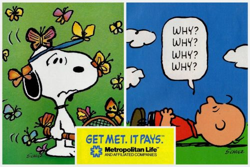 Remember how the Peanuts gang starred in these old Met Life ads