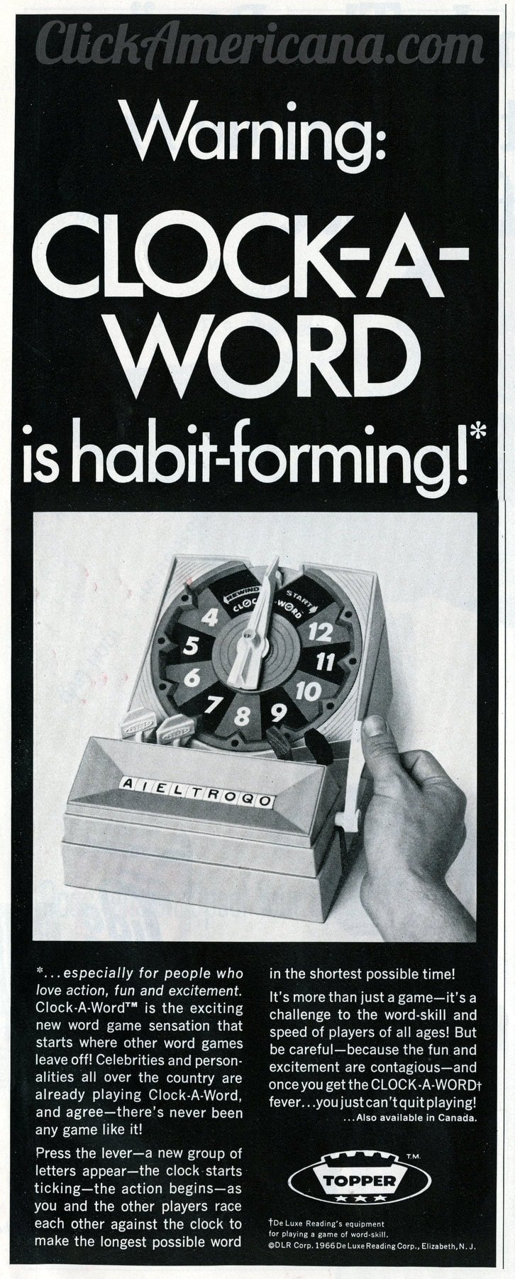 Remember the old Clock-A-Word puzzle game from the '60s