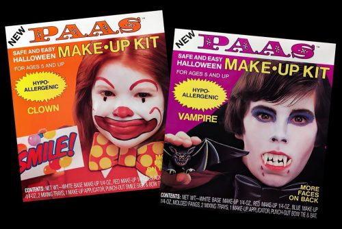Remember these vintage Paas Halloween makeup kits from the 80s