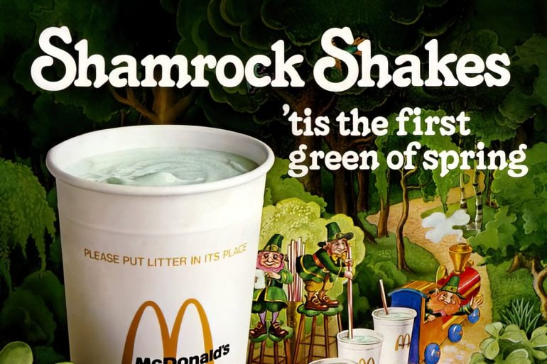 Remember vintage McDonald's Shamrock Shakes in all their minty green goodness